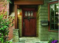 pictures of front doors Vintage Front Door Design With Blue Color Combine Rectangular Panel Incorporates Rounded Knob ...