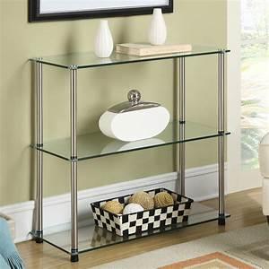 Three, Tier, Glass, Shelf, In, Bathroom, Shelves