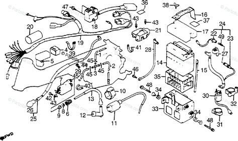 Honda Atv Oem Parts Diagram For Wire Harness Coil