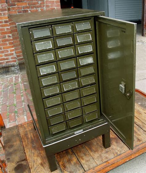 parts cabinet with drawers 1920 s industrial 30 drawer addressograph metal file