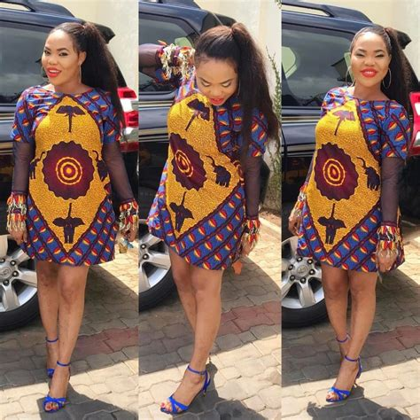 simple ankara short gown styles dezango