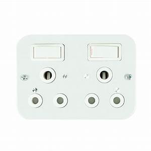Switch Industrial Socket Outlet Double 16a White