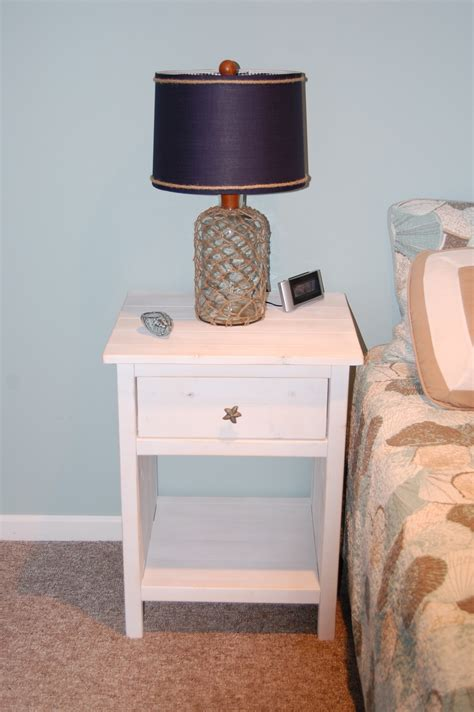 ana white reclaimed wood  bedside table modified