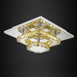 Modern led crystal small ceiling lights flush mount light