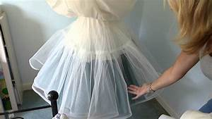 how to make an underskirt for a wedding dress youtube With make a wedding dress