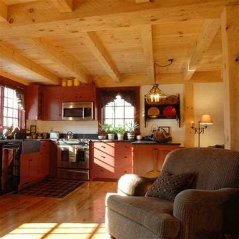 Post and Beam Kitchen and Timber Framed Ceiling   Kitchen