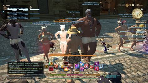 Final Fantasy Xiv Naked Dance Party Youtube