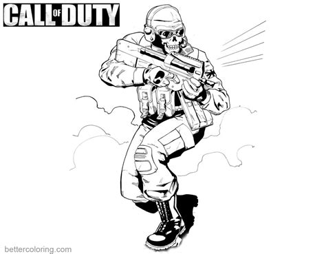 coloring pages of call of duty black ops coloring pages free printable