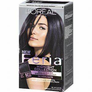 LOreal Feria Violet Soft Black Hair Dye Curl Up And Dye