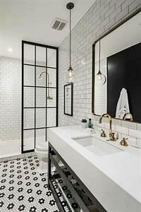 exceptionnel carrelage damier noir et blanc cuisine 14 With carrelage damier noir et blanc salle de bain