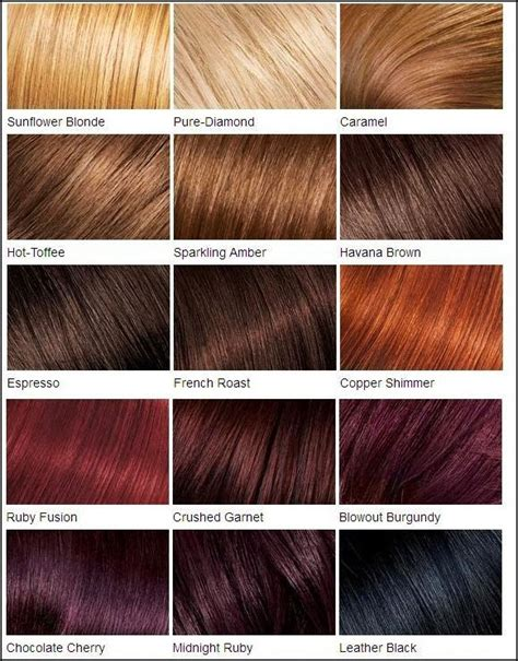 Brown Shades Of Hair by Crushed Garnet Is My Favorite Loreal Color Chart