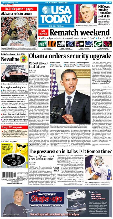 Newspaper Usa Newspaper Usa Today Usa Newspapers In Usa Friday S