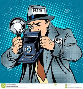 Was Ist Retro Style : photographer paparazzi at work press media camera stock vector image 58767306 ~ Markanthonyermac.com Haus und Dekorationen