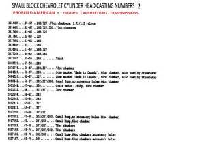 Head Casting Numbers Small Block Chevy html Autos Weblog