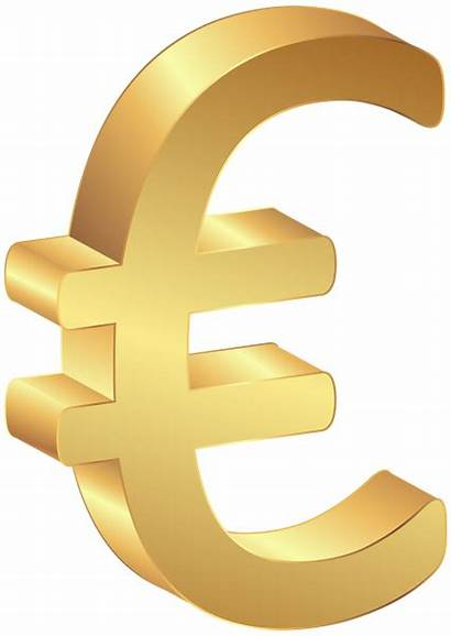 Euro Clip Sign Gold Currency Clipart Money