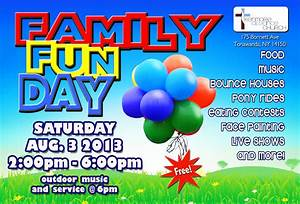 family fun day With fun day poster template