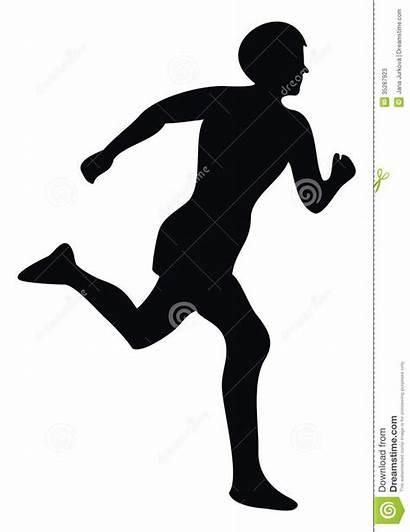Runner Silhouette Running Athlete Clipart Cross Country