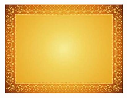 Certificate Template Border Gold Transparent Background Clipart