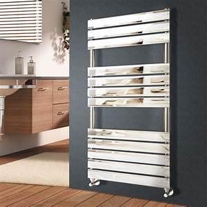 designer flat panel bathroom heated towel rail radiator With designer heated towel rails for bathrooms