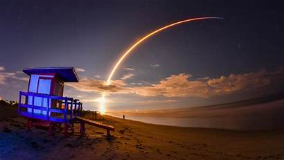 Launch Spacex Rocket Falcon Satellite Florida Today
