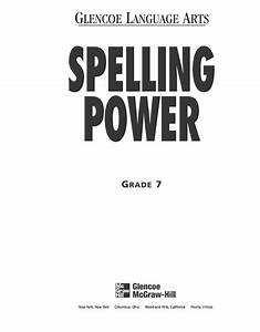 Spelling Power Workbook  Grade 7