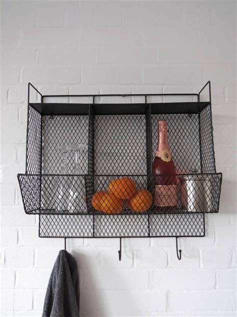 Kitchen Metal Wall Uk by Kitchen Metal Wire Wall Rack Shelving Display Shelf