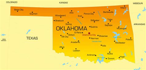 oklahoma state colors oklahoma map guide of the world