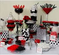 Table Decorations Black And White Theme Red And Black Candy Table Black And Red Candy Bar Black White