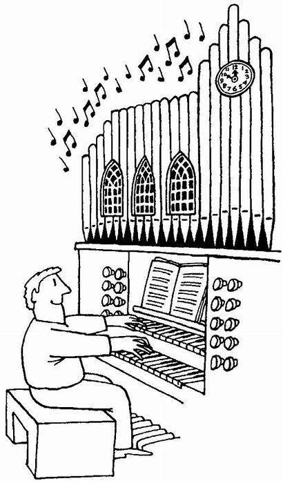 Organ Pipe Coloring Pipes Cartoon Humor Pages