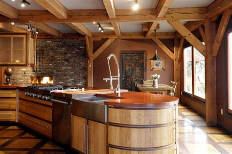 Furniture Kitchen Island Timber Framed Modern Home Moco Loco Submissions
