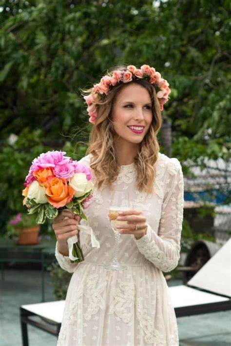 Bohemian Wedding Flower Crown Spring Wedding 2032757