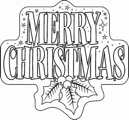 Coloring Pages Santa Sleigh Christmas Printable Merry