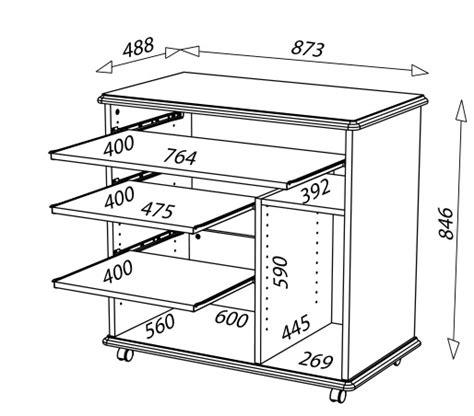bureau dimension bureau informatique complet en bois merisier lyon