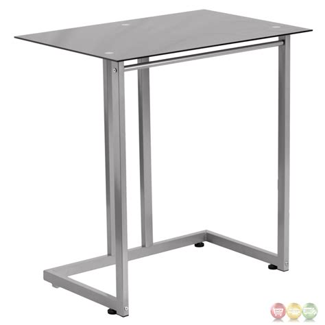 Tempered Glass Computer Desk by Black Tempered Glass Computer Desk Nan 2905 Gg