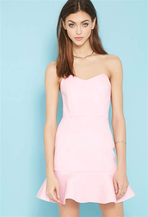 Forever 21 Paint It Red Valentina Dress In Pink Lyst