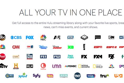 hulu launches  tv  channel list includes