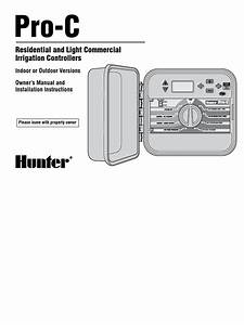 Hunter Pro C Controller Owners Manual