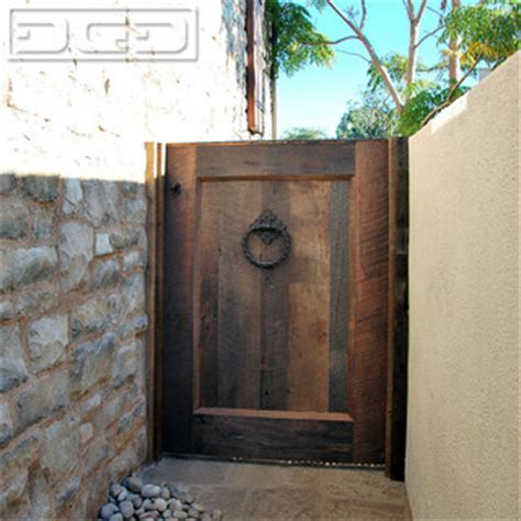 Tuscan Architectural Garden Gate in Reclaimed Barn Wood