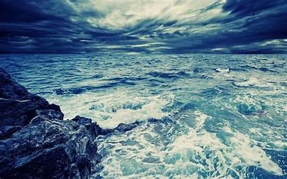 Android Deep Sea Fish Ocean Wave Rocks