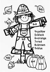 Number Fall Addition Math Coloring Numbers Printables Worksheets Grade Preschool 1st Printable Grades Autumn Sheets Worksheet Driverlayer Engine Facts Halloween sketch template