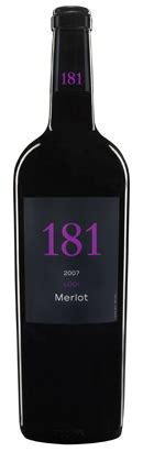 181 Merlot 2012   750mL   Red Wine