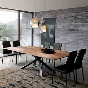 Table En Metal : 4x4 table moderne en m tal plateau en bois 200 x 100 cm allongeable disponible en ~ Teatrodelosmanantiales.com Idées de Décoration