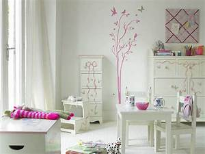 Ideen m dchen zimmer einrichten wei rosa wandtatoos for Mädchen zimmer dekorieren