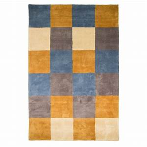 tapis moutarde glade check flair rugs 90x150 With tapis couleur moutarde