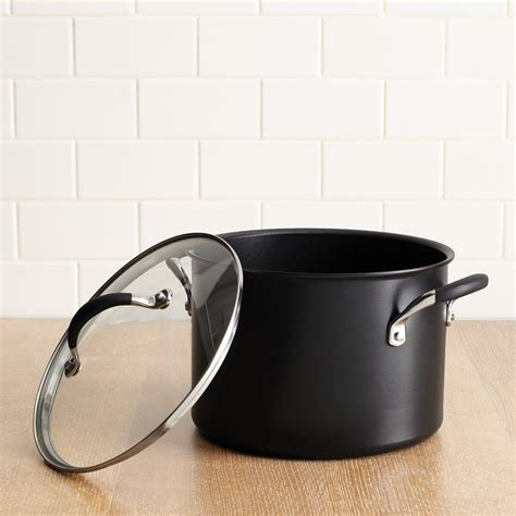 anolon infused copper  quart covered stockpot black bloomingdales