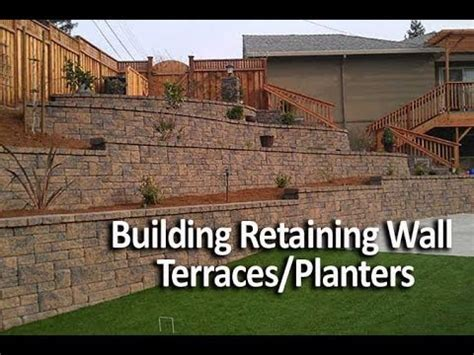 building terraced retaining walls   wall planters