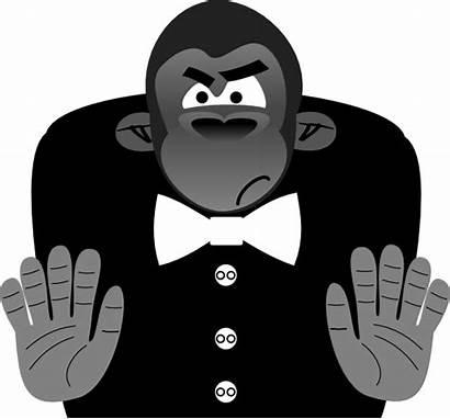 Gorilla Clker Toon Clip Svg Clipart Vector