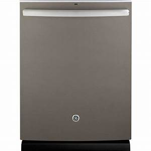 GE 24 in. Tall Tub Top Control Dishwasher in Slate with ...