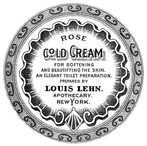 antique labels apothecary beauty cream  graphics