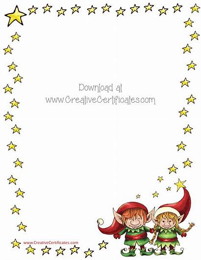 Borders Border Christmas Clipart Templates Clip Printable